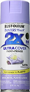 Rust-Oleum 249079 Painter's Touch 2X Ultra Cover, 12-Ounce, Satin French Lilac