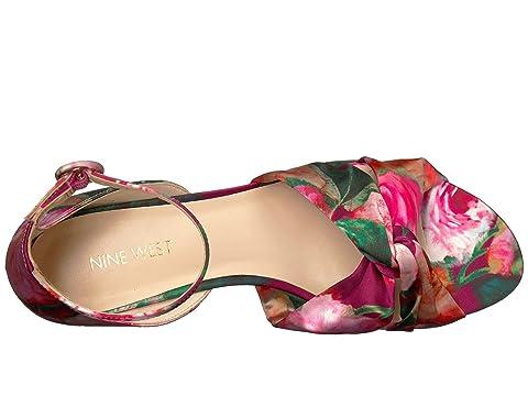 Nine Satinado Cristal Color West Lumsi agua Multi Sandal Pink Floral de CxC4r1v