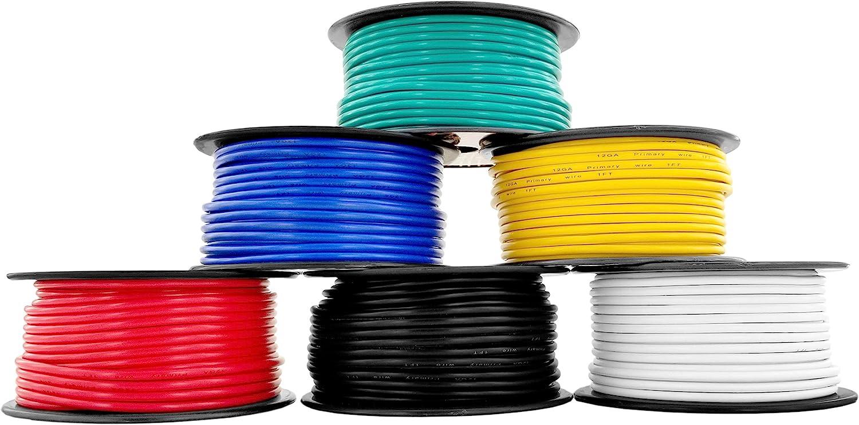 12 Gauge Copper Clad Aluminum Low Wire 6 Latest item Primary Voltage Color Max 61% OFF C