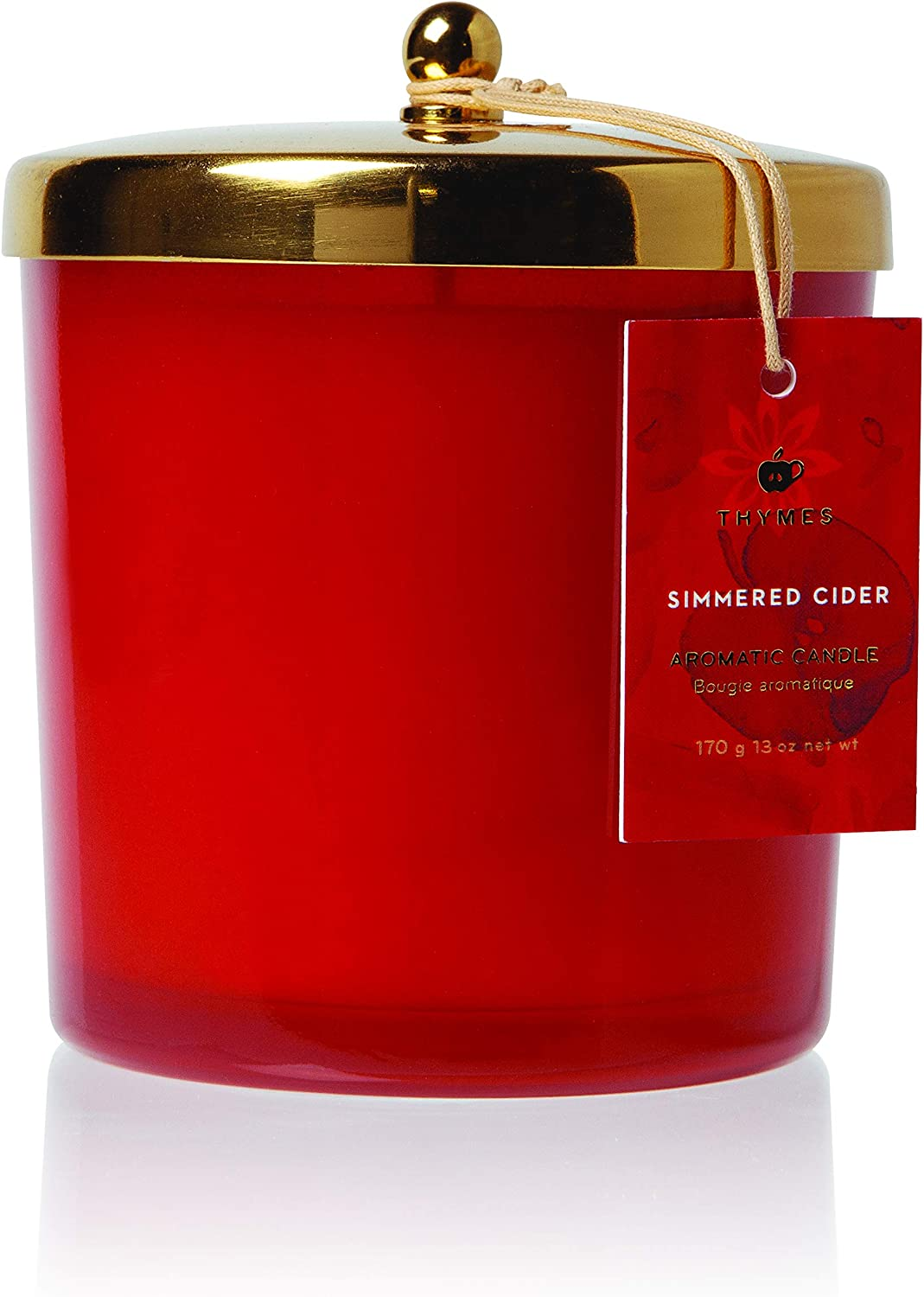 Thymes Harvest 新生活 Red Poured Candle - 13 Simmered Oz お金を節約 Cider