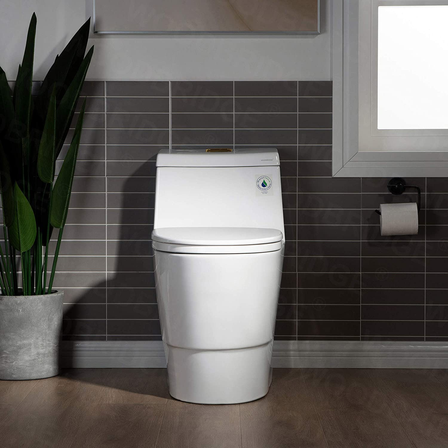WOODBRIDGE 67% OFF of Beauty products fixed price T-0001-BG Toilet with Brushed Gold Button