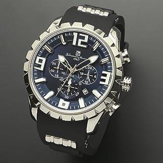 サルバトーレマーラ 腕時計 シルバー×ブルー サイズ:約(縦) ×(横)4.67cm×(厚み)1.4cm、手首回り:最小約17cm、最大約22cm