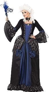 Smiffy's Smiffys-25438S Marqués Disfraz de Baile de máscaras Barroco y con Vestido y Sobrefalda, Color Negro, S - EU Tamaño 36-38 25438S