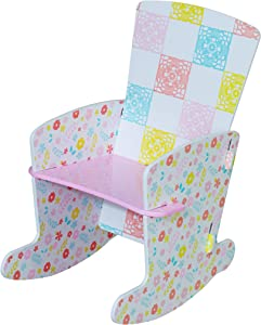Kidsaw Country Cottage-Sedia a Dondolo da Interni, 45 x 40 x 60 cm, Colore: Multicolore