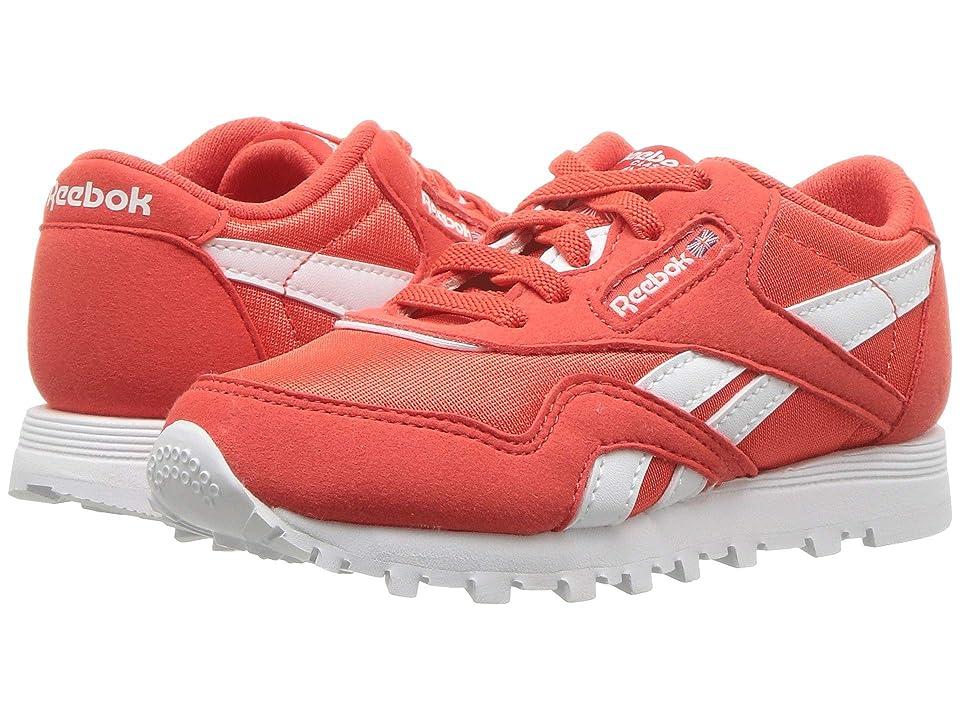 Reebok Kids Classic Nylon MU (Infant/Toddler) (Red/White) Kids Shoes