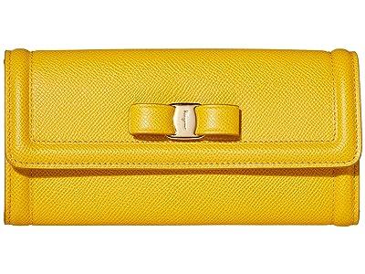Salvatore Ferragamo Vara Continental Wallet (Sunshine) Handbags