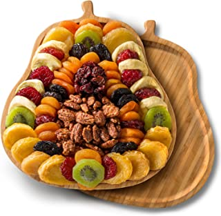 Dried Fruit and Nuts on Pear Shaped Serving Tray