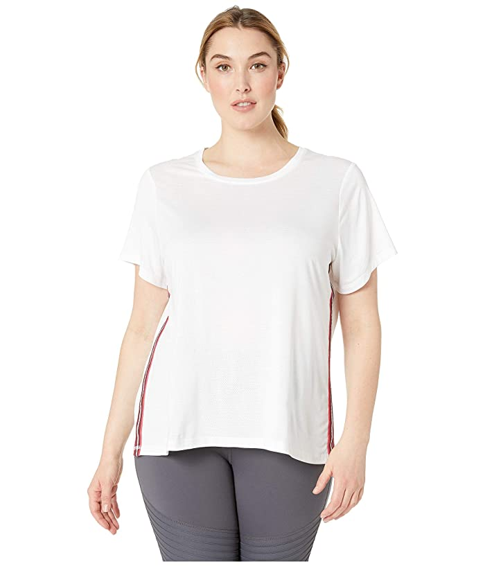 SHAPE Activewear Plus Size Track Star Tee (White) Women