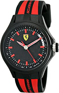 Ferrari Men's 0840002 Pit Crew Analog Display Quartz Black Watch