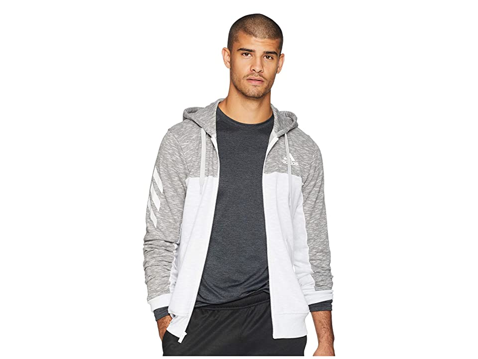 adidas Pick Up Full Zip Shooter (Light Solid Grey/White) Men