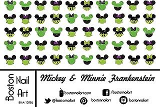 Mickey & Minnie Mouse Frankenstein - Waterslide Nail Decals - 50pc