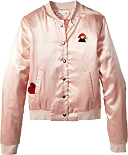 Sonia Rykiel Kids Alegria Satin Jacket w/ Logo On Back (Big Kids)