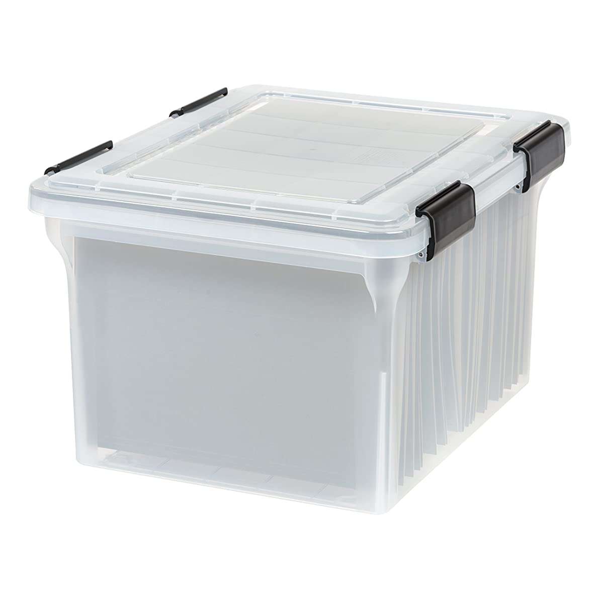 IRIS Letter and Legal Size WEATHERTIGHT File Box, Clear