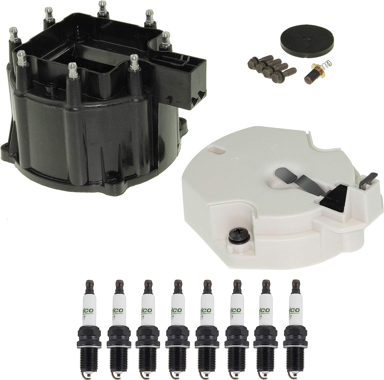 Distributor Rotor Cap  Spark Plugs Kit For Corvette 5.7 1988-19