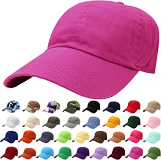 86f340d12d9 Falari Classic Baseball Cap Dad Hat 100% Cotton Soft Adjustable Size