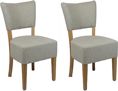 en.casa]®] Set de 6 sillas de Comedor Elegantes tapizadas de Tela ...