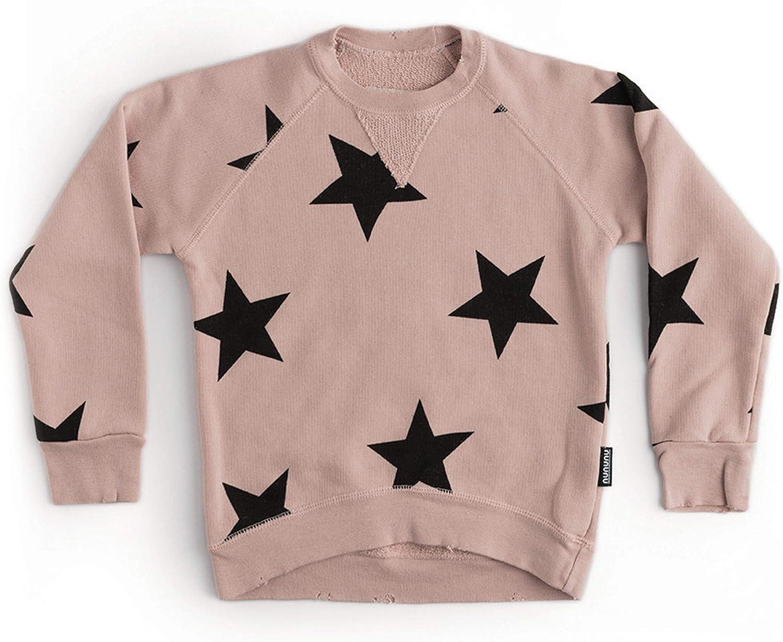 NUNUNU Crewneck Sweatshirt For OFFicial site Boys 100% Girls Unis 1 year warranty and Cotton