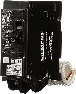 Siemens QF120A Ground Fault Circuit Interrupter, 20 Amp, 1 Pole, 120 Volt, 10,000 AIC