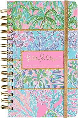 Lilly Pulitzer Medium 2021-2022 Planner Daily Weekly Monthly, Hardcover Agenda Dated Aug 2021 - Dec 2022, 17 Month Calendar with Notes Pages, Stickers, Pocket, & Laminated Dividers, Multi Print