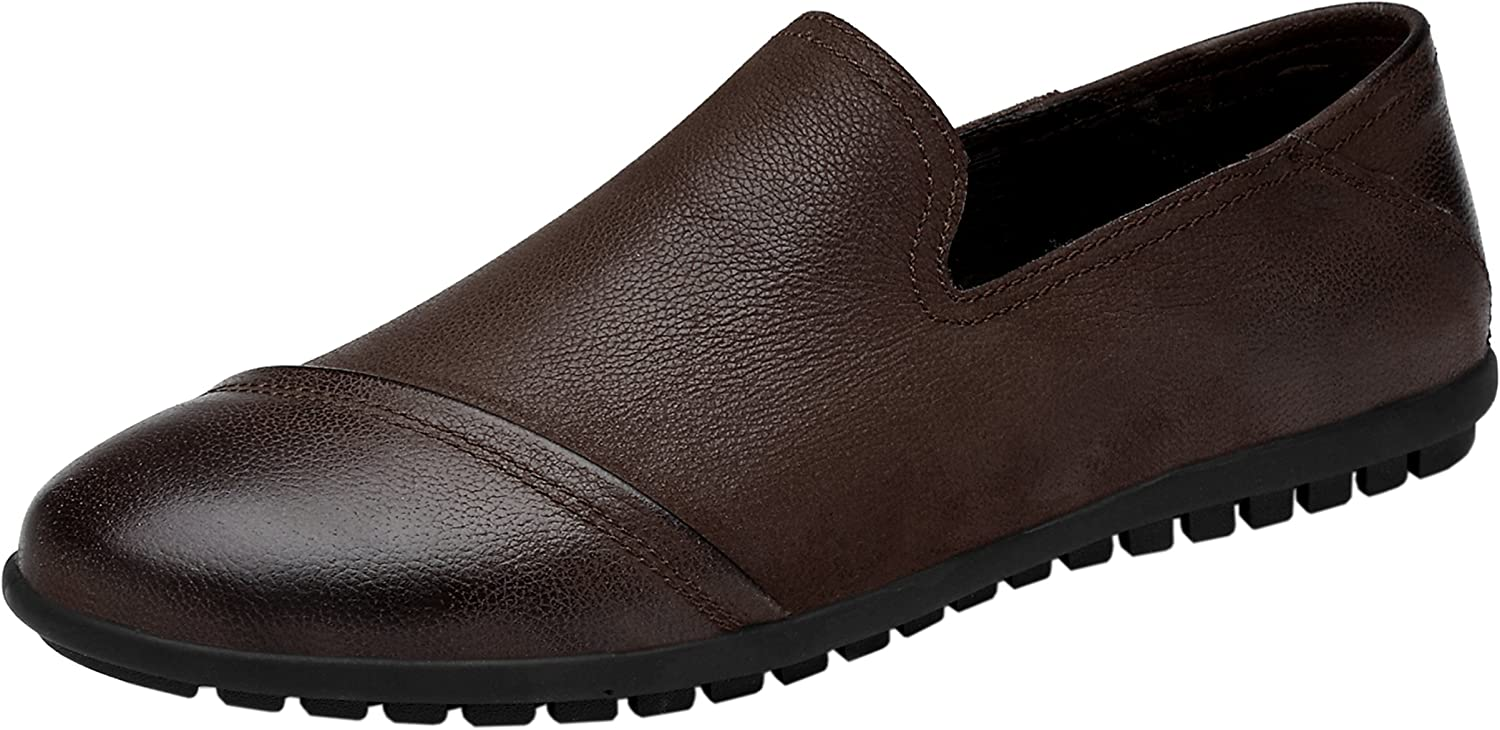 Men's Dress Casual Genuine Leather Loafer Flats Slip On Driving shoes
