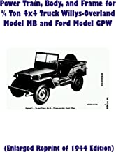 TM9-1803B Power Train, Body, and Frame for Quarter Ton 4x4 Truck Willys-Overland Model MB and Ford Model GPW (Reprint of 1944 Edition)