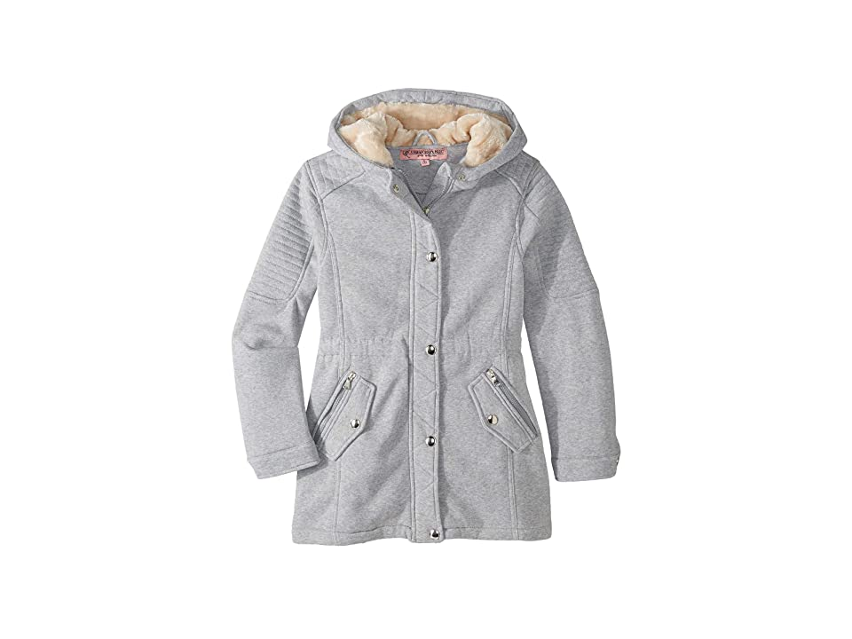 Urban Republic Kids Rani Fleece Anorak Jacket (Little Kids/Big Kids) (Heather Grey) Girl
