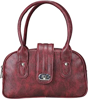 Khadim's Maroon Synthetic Solid Casual Tote Bag for Women