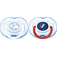 Philips AVENT Orthodontic Pacifier, Blue Rocket and Cloud, 18 Plus Months