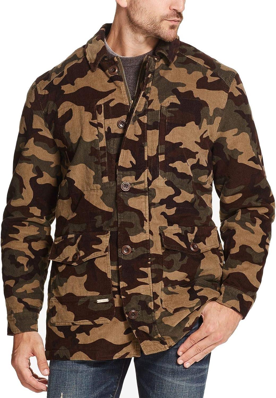 Weatherproof Mens Jacket Large Camo Print Corduroy