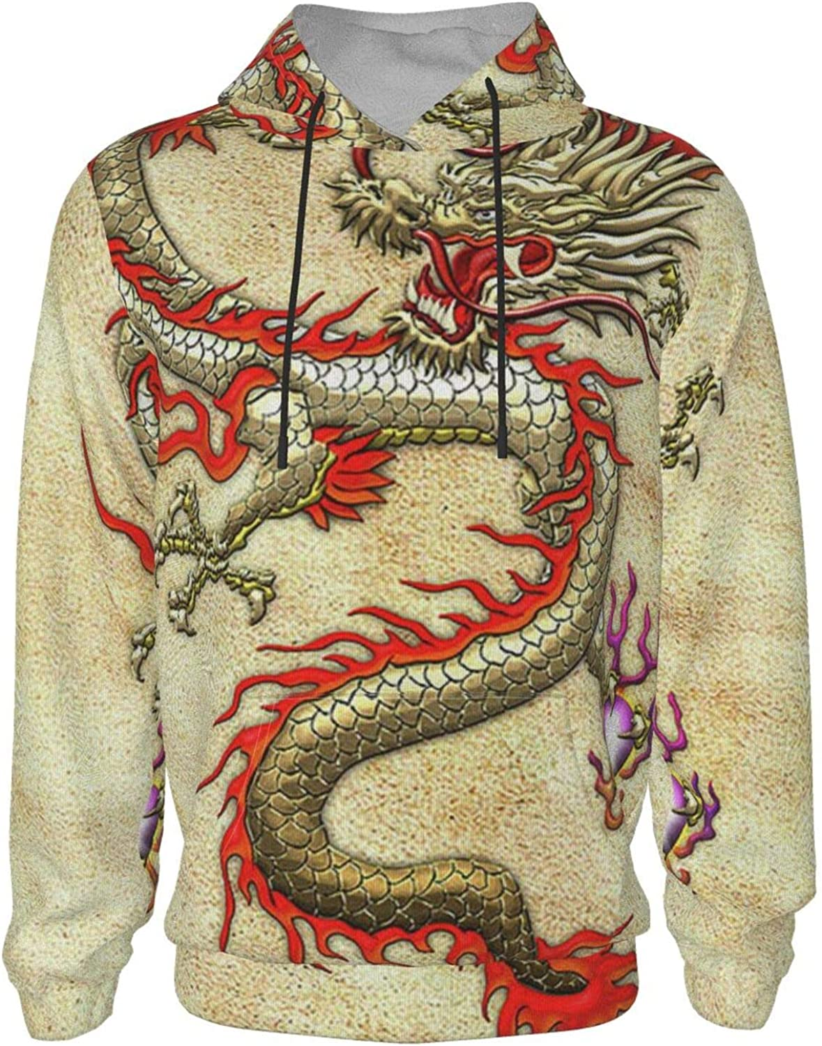xqqr Hoodies Outlet ☆ Free Shipping for Boys Girls Chinese 3D Fashionable Pullover Dragon Ho Golden