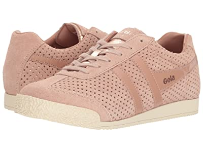 Gola Harrier Glimmer Suede (Blush Pink/Rose Gold/Off-White) Women