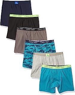 Boys Underwear Cotton Boxer Briefs, 6 Pack