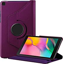 Fintie Rotating Case for Samsung Galaxy Tab A 8.0 2019 Without S Pen Model (SM-T290 Wi-Fi, SM-T295 LTE), Premium PU Leather 360 Degree Swivel Stand Cover, Purple