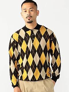 Argyle Wool Polo Sweater 38-12-0002-156: Black