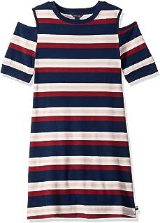 Big Girls' Short Sleeve Striped Dress