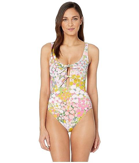 Kate Spade New York Reversible Bunny Tie One-Piece Swimsuit