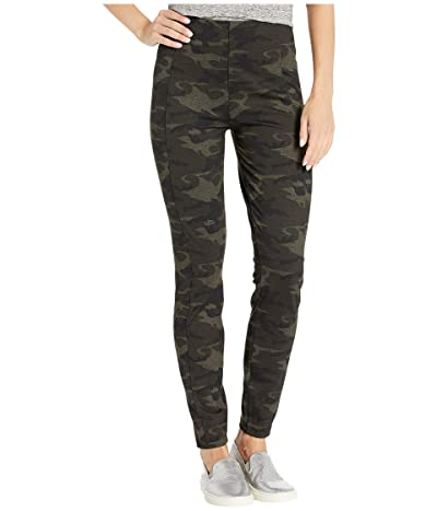 Liverpool Reese Ankle Leggings in Camo Knit (Olive/Brown) Women