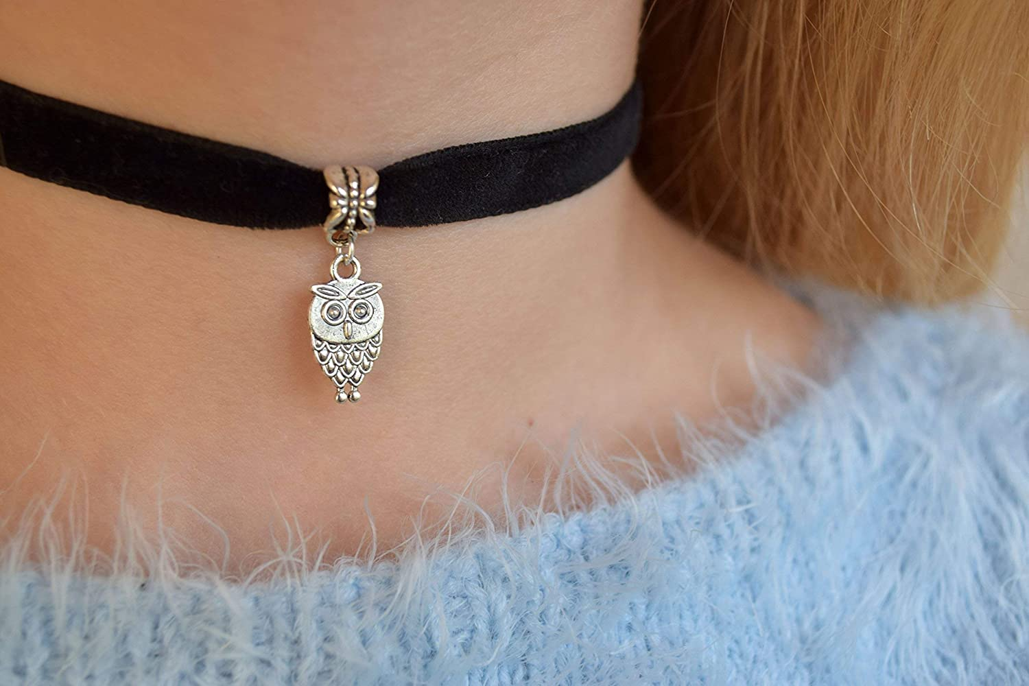 Choker Necklace Velvet Direct store Jewelry Owl Gift Special Campaign Woman Teen Girl