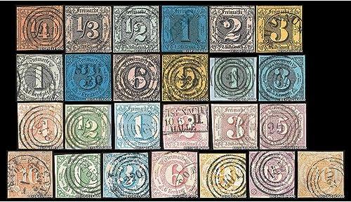 Goldhahn Set  Thurn und Taxis Nr. 1-18, 20-24 gestempelt Briefmarken für Sammler