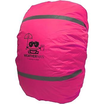 Weatherman wasserdichter Regenschutz für Schulranzen und Rucksack, Signalfarbe, mit Gummizug, Regenhülle, Sicherheitsüberzug, Sicherheitshülle, Schutzhülle, Regenschutzhülle