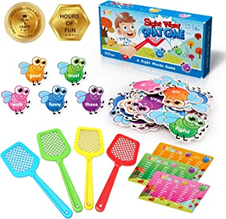 Shemira Sight Word Swat Game, Sight Word Educational Toy For Age of 3,4,5,6,7-Year-Old Boys & Girls, Homeschool, Phonics, ...