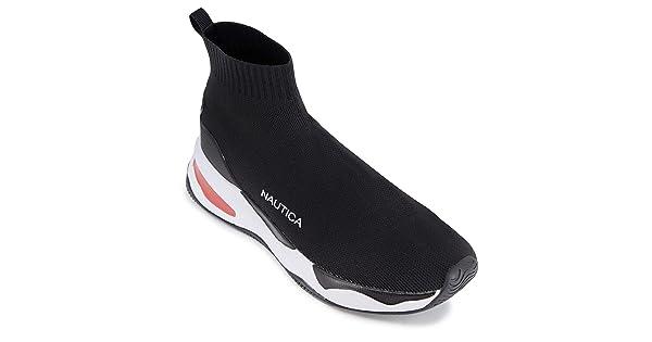 Nautica Mens High-Top Sock Slip-On