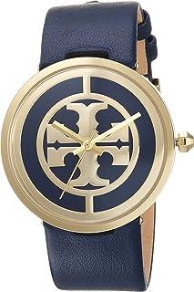 Tory Burch Reva Leather Watch Blue - Tbw4021 One Size