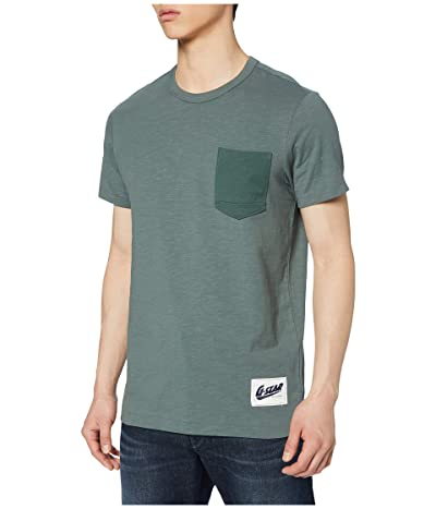 G-Star Contrast Pocket Round Neck T-Shirt (Grey Moss) Men