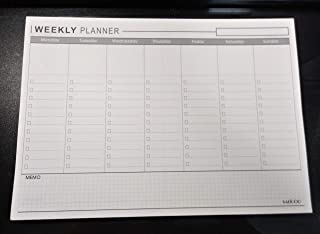SALGOO FACTORY - Premium Tearable Weekly Planner Pad A4, 60 Page/Weekly to-Do List Notepad/Weekly Planner Notepad/to Do List Notepad/Checklist Notebook (LINE)
