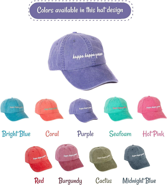 Kappa Kappa Gamma (N) Sorority Baseball Hat Cap Cursive Name Font kkg
