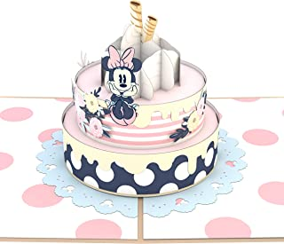 Lovepop Disney Minnie Mouse Birthday Cake Pop Up Card, 3D Card, Popup Greeting Cards, Birthday Card, Disney Card, Celebration Card