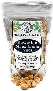 Hawaiian Macadamia Nuts Roasted with Sea Salt, Fresh from Hawaii, Keto, Paleo, Low Carb, Gluten Free