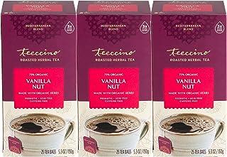Teeccino Herbal Tea – Vanilla Nut – Rich & Roasted Herbal Tea That's Caffeine Free & Prebiotic for Natural Energy, 25 Tea ...