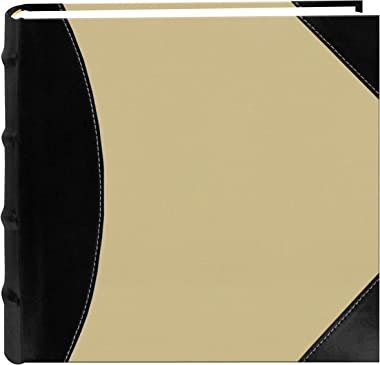 Pioneer Photo Albums 622500 High Capacity Photo Album, 500 Memo Pockets, Black and Beige